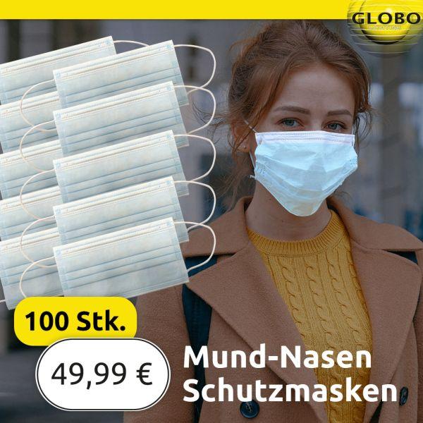 Einweg-Schutzmaske 3-lagig (100 Stück)