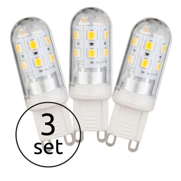 LED LEUCHTMITTEL KUNSTSTOFF WEIß, 3XG9 LED