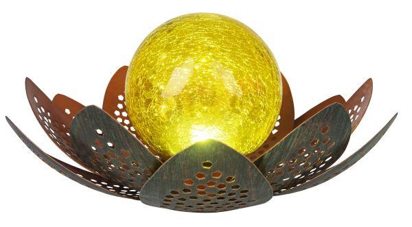 SOLARLEUCHTE METALL GRÜN, 1XLED