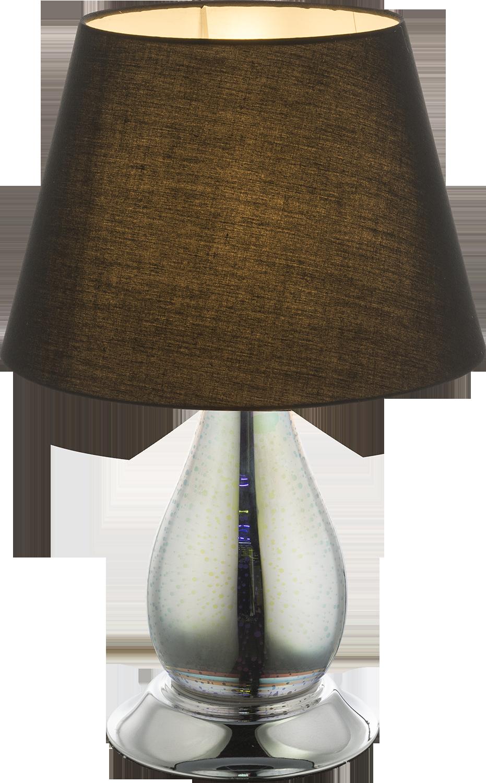 Tischleuchte   Glas chrom   Textil schwarz   Globo Lighting   Leuchten   Lampen   online kaufen