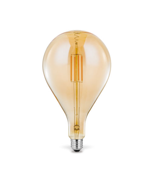 LED LEUCHTMITTEL METALL SILBERFARBEN, 1XE27 LED