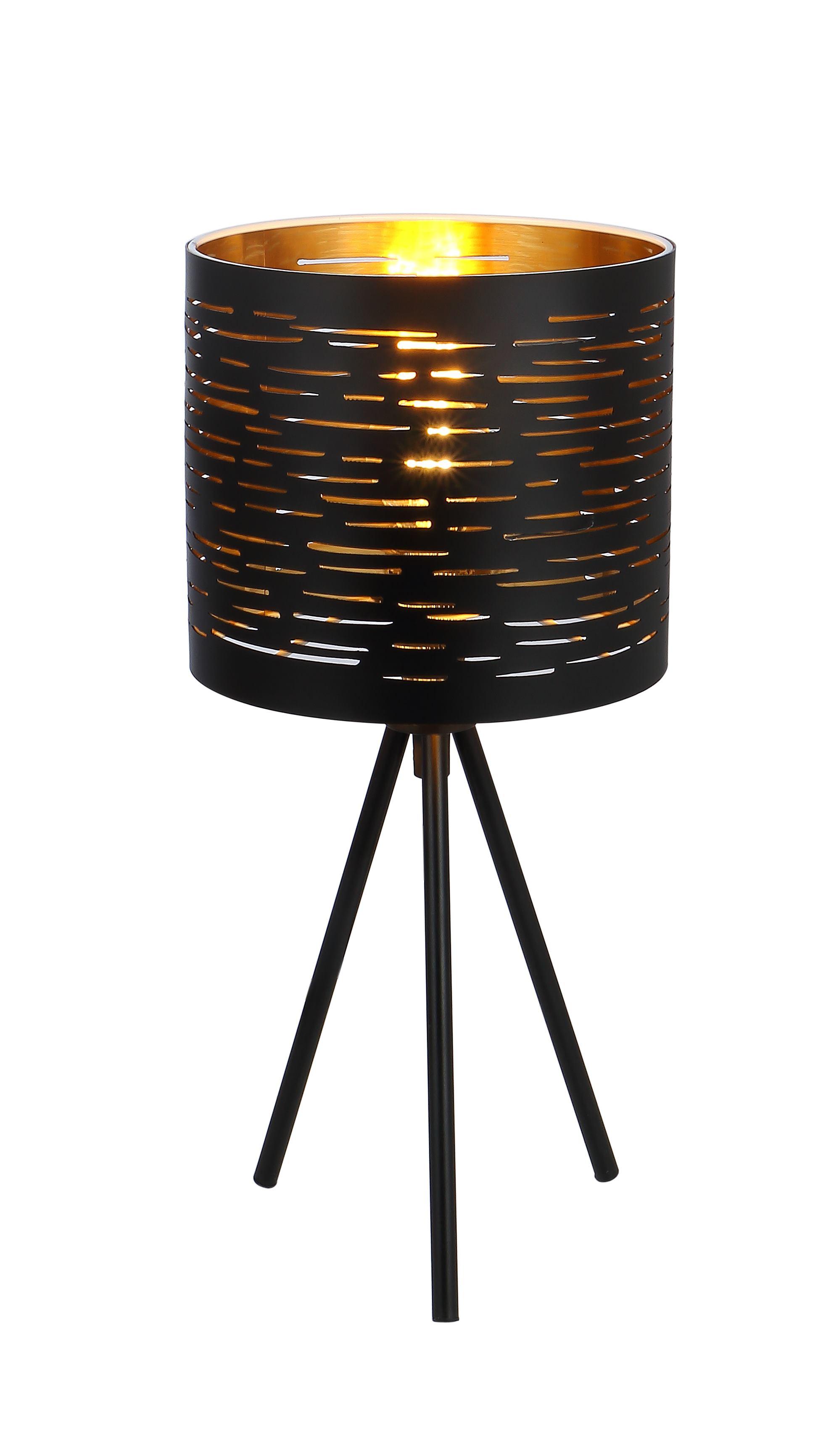 Tischleuchte   Metall schwarz   Kunststoff schwarz   Globo Lighting   Leuchten   Lampen   online ...