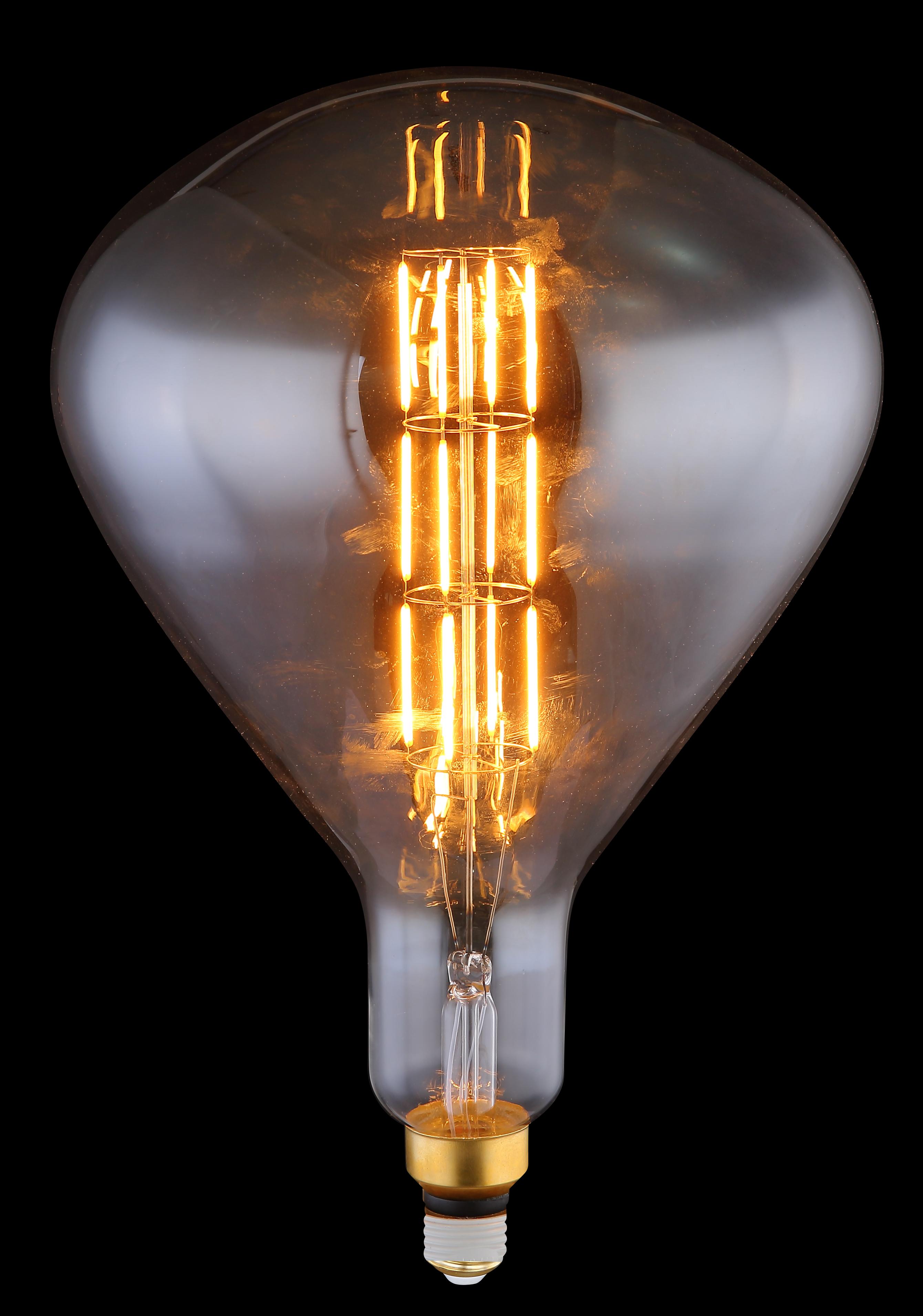 LED Leuchtmittel   Metall messingfarben   Glas rauch   Globo Lighting   Leuchten   Lampen ...