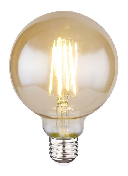 LED LEUCHTMITTEL GLAS AMBER, 1XE27 LED